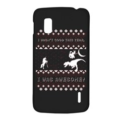 I Wasn t Good This Year, I Was Awesome! Ugly Holiday Christmas Black Background LG Nexus 4