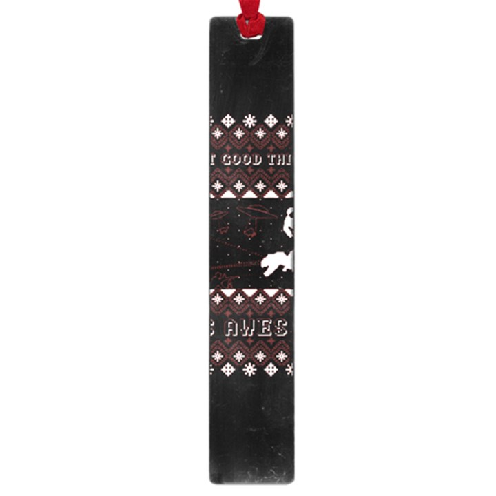 I Wasn t Good This Year, I Was Awesome! Ugly Holiday Christmas Black Background Large Book Marks
