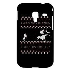 I Wasn t Good This Year, I Was Awesome! Ugly Holiday Christmas Black Background Samsung Galaxy Ace Plus S7500 Hardshell Case