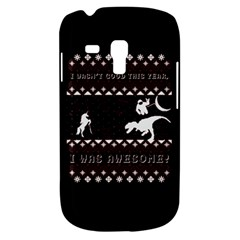 I Wasn t Good This Year, I Was Awesome! Ugly Holiday Christmas Black Background Samsung Galaxy S3 Mini I8190 Hardshell Case