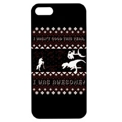I Wasn t Good This Year, I Was Awesome! Ugly Holiday Christmas Black Background Apple iPhone 5 Hardshell Case with Stand