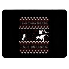 I Wasn t Good This Year, I Was Awesome! Ugly Holiday Christmas Black Background Samsung Galaxy Tab 7  P1000 Flip Case