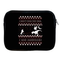 I Wasn t Good This Year, I Was Awesome! Ugly Holiday Christmas Black Background Apple iPad 2/3/4 Zipper Cases