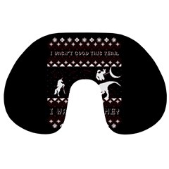 I Wasn t Good This Year, I Was Awesome! Ugly Holiday Christmas Black Background Travel Neck Pillows