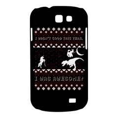 I Wasn t Good This Year, I Was Awesome! Ugly Holiday Christmas Black Background Samsung Galaxy Express I8730 Hardshell Case