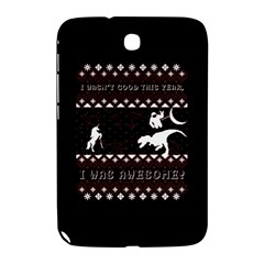 I Wasn t Good This Year, I Was Awesome! Ugly Holiday Christmas Black Background Samsung Galaxy Note 8.0 N5100 Hardshell Case
