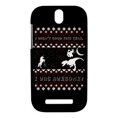 I Wasn t Good This Year, I Was Awesome! Ugly Holiday Christmas Black Background HTC One SV Hardshell Case