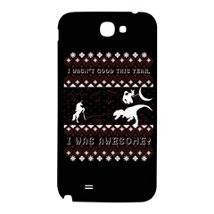 I Wasn t Good This Year, I Was Awesome! Ugly Holiday Christmas Black Background Samsung Note 2 N7100 Hardshell Back Case