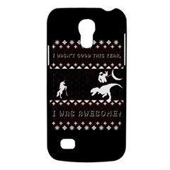 I Wasn t Good This Year, I Was Awesome! Ugly Holiday Christmas Black Background Galaxy S4 Mini