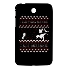I Wasn t Good This Year, I Was Awesome! Ugly Holiday Christmas Black Background Samsung Galaxy Tab 3 (7 ) P3200 Hardshell Case