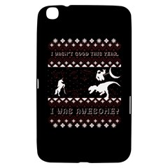 I Wasn t Good This Year, I Was Awesome! Ugly Holiday Christmas Black Background Samsung Galaxy Tab 3 (8 ) T3100 Hardshell Case
