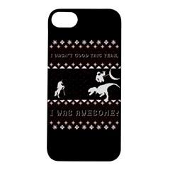 I Wasn t Good This Year, I Was Awesome! Ugly Holiday Christmas Black Background Apple iPhone 5S/ SE Hardshell Case