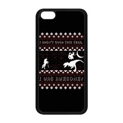 I Wasn t Good This Year, I Was Awesome! Ugly Holiday Christmas Black Background Apple iPhone 5C Seamless Case (Black)