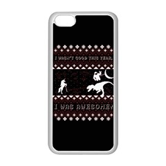 I Wasn t Good This Year, I Was Awesome! Ugly Holiday Christmas Black Background Apple iPhone 5C Seamless Case (White)