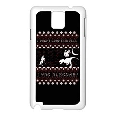 I Wasn t Good This Year, I Was Awesome! Ugly Holiday Christmas Black Background Samsung Galaxy Note 3 N9005 Case (White)