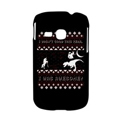 I Wasn t Good This Year, I Was Awesome! Ugly Holiday Christmas Black Background Samsung Galaxy S6310 Hardshell Case