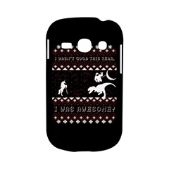 I Wasn t Good This Year, I Was Awesome! Ugly Holiday Christmas Black Background Samsung Galaxy S6810 Hardshell Case