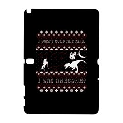 I Wasn t Good This Year, I Was Awesome! Ugly Holiday Christmas Black Background Samsung Galaxy Note 10 1 (p600) Hardshell Case