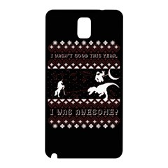 I Wasn t Good This Year, I Was Awesome! Ugly Holiday Christmas Black Background Samsung Galaxy Note 3 N9005 Hardshell Back Case