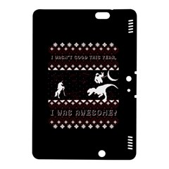 I Wasn t Good This Year, I Was Awesome! Ugly Holiday Christmas Black Background Kindle Fire HDX 8.9  Hardshell Case