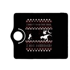 I Wasn t Good This Year, I Was Awesome! Ugly Holiday Christmas Black Background Kindle Fire HDX 8.9  Flip 360 Case