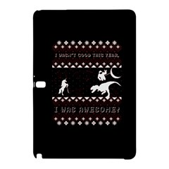 I Wasn t Good This Year, I Was Awesome! Ugly Holiday Christmas Black Background Samsung Galaxy Tab Pro 12.2 Hardshell Case