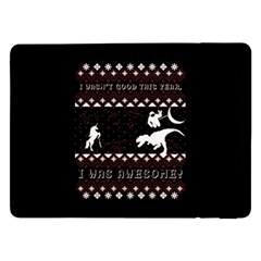 I Wasn t Good This Year, I Was Awesome! Ugly Holiday Christmas Black Background Samsung Galaxy Tab Pro 12.2  Flip Case