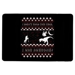 I Wasn t Good This Year, I Was Awesome! Ugly Holiday Christmas Black Background iPad Air Flip