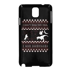 I Wasn t Good This Year, I Was Awesome! Ugly Holiday Christmas Black Background Samsung Galaxy Note 3 Neo Hardshell Case (Black)