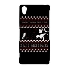 I Wasn t Good This Year, I Was Awesome! Ugly Holiday Christmas Black Background Sony Xperia Z2