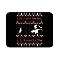 I Wasn t Good This Year, I Was Awesome! Ugly Holiday Christmas Black Background Double Sided Flano Blanket (Mini)