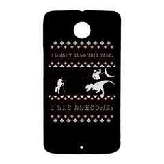 I Wasn t Good This Year, I Was Awesome! Ugly Holiday Christmas Black Background Nexus 6 Case (White)