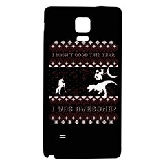 I Wasn t Good This Year, I Was Awesome! Ugly Holiday Christmas Black Background Galaxy Note 4 Back Case