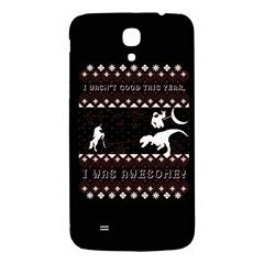 I Wasn t Good This Year, I Was Awesome! Ugly Holiday Christmas Black Background Samsung Galaxy Mega I9200 Hardshell Back Case