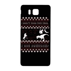I Wasn t Good This Year, I Was Awesome! Ugly Holiday Christmas Black Background Samsung Galaxy Alpha Hardshell Back Case