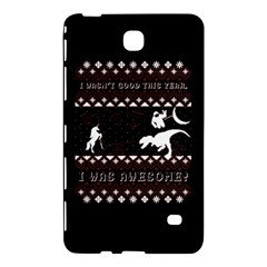 I Wasn t Good This Year, I Was Awesome! Ugly Holiday Christmas Black Background Samsung Galaxy Tab 4 (7 ) Hardshell Case