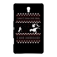 I Wasn t Good This Year, I Was Awesome! Ugly Holiday Christmas Black Background Samsung Galaxy Tab S (8.4 ) Hardshell Case