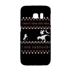 I Wasn t Good This Year, I Was Awesome! Ugly Holiday Christmas Black Background Galaxy S6 Edge