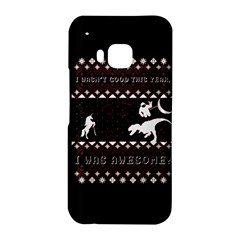 I Wasn t Good This Year, I Was Awesome! Ugly Holiday Christmas Black Background HTC One M9 Hardshell Case