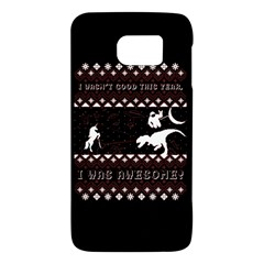 I Wasn t Good This Year, I Was Awesome! Ugly Holiday Christmas Black Background Galaxy S6