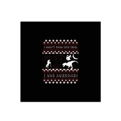 I Wasn t Good This Year, I Was Awesome! Ugly Holiday Christmas Black Background Satin Bandana Scarf