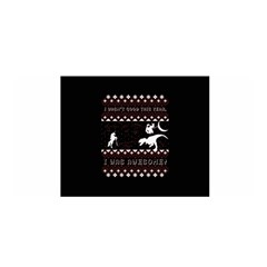 I Wasn t Good This Year, I Was Awesome! Ugly Holiday Christmas Black Background Satin Wrap