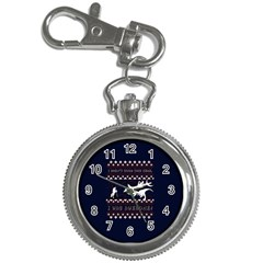 I Wasn t Good This Year, I Was Awesome! Ugly Holiday Christmas Blue Background Key Chain Watches