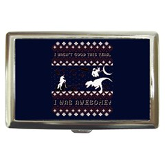 I Wasn t Good This Year, I Was Awesome! Ugly Holiday Christmas Blue Background Cigarette Money Cases