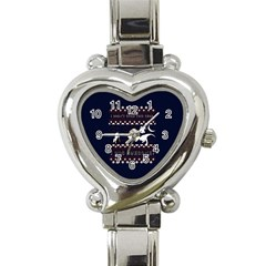 I Wasn t Good This Year, I Was Awesome! Ugly Holiday Christmas Blue Background Heart Italian Charm Watch