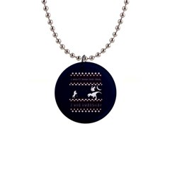 I Wasn t Good This Year, I Was Awesome! Ugly Holiday Christmas Blue Background Button Necklaces