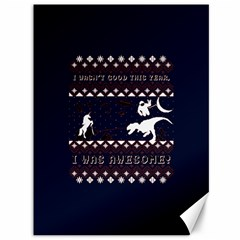 I Wasn t Good This Year, I Was Awesome! Ugly Holiday Christmas Blue Background Canvas 36  x 48