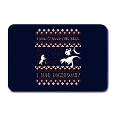 I Wasn t Good This Year, I Was Awesome! Ugly Holiday Christmas Blue Background Plate Mats