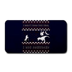I Wasn t Good This Year, I Was Awesome! Ugly Holiday Christmas Blue Background Medium Bar Mats