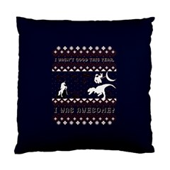 I Wasn t Good This Year, I Was Awesome! Ugly Holiday Christmas Blue Background Standard Cushion Case (two Sides)